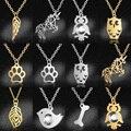 Модное ожерелье с подвеской в виде единорога, крыла, оптовая продажа, 100%, из нержавеющей стали, собачья лапа, птица, Ночная Сова, Женские Ювел...