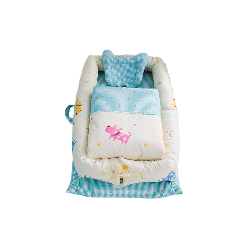 90*50cm pliable bébé lit bébé couchage berceau Portable nouveau-né sommeil lit voyage lit avec couette infantile ensembles de literie licorne
