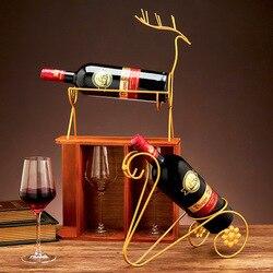Direct supply European style light luxury wrought iron gold wine rack Creative home wine cabinet wine rack desktop decoration or