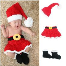 Outfits Photography-Prop Costume Crochet Newborn-Baby Infant Knit Christmas-Hat Girls