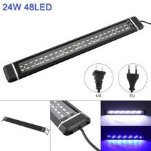 24W 48 LED Aquarium Light with Extendable Brackets Fish Tank  2 Modes Water Fishbowl Lights for tank 43x5.7CM