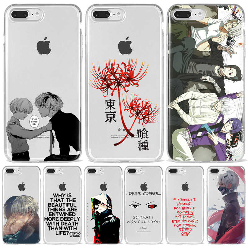 Japanese anime Tokyo Ghoul Japan Suave TPU Phone Case For iPhone XR XS 11 12 Mini Pro Max 10 7 8 6 6S SE Back Fundas Coque Cover