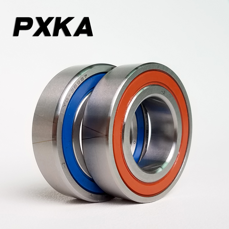 Free Shipping 1 Pair 7007 7007AC 2RZ P4 DB A 35x62x14 35x62x28 Sealed Angular Contact Bearings Speed Spindle Bearings CNC ABEC-7