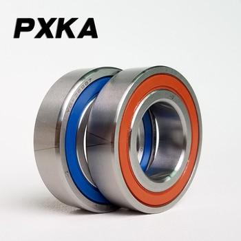 Free shipping 1 Pair  7206 7206AC-2RZ-P4-DBA 30x62x16 25 Degree Contact Angle Sealed Angular Contact Bearings Spindle Bearings