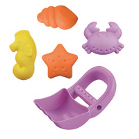 Summer Beach Toy 5 Pieces Children Play with Water Play Sand Combination Baby Bath Dredging Marine Organism Mould