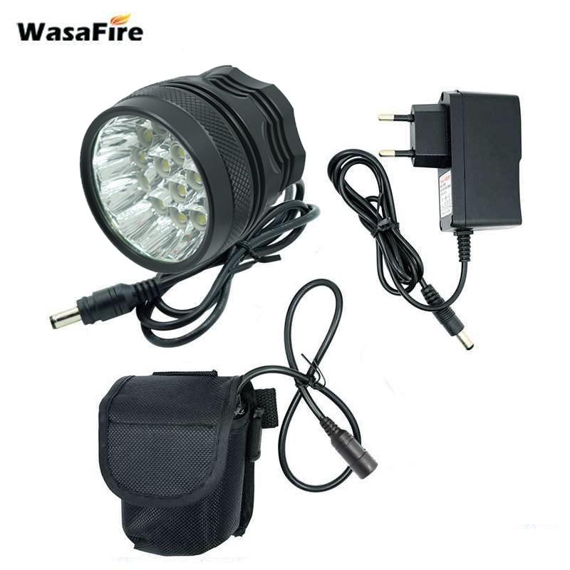 5000LM Bike Front Light Bicycle LED Lamp Headlight Flashlight Battery Powered