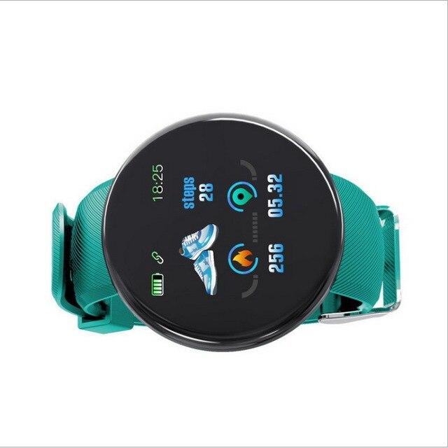 Relógio inteligente para homem e mulher, esportes pulseira, controle de pressão arterial, bluetooth, android ios esporte à prova dwaterproof água relógio inteligente 2