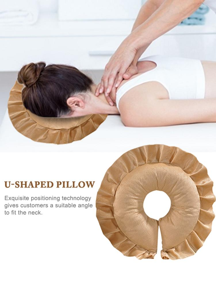 massage table cradle face pillow u shaped pillow neck head cushion for beauty salon face relax cushion