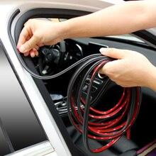 5 м автомобильные аксессуары резиновые уплотнительные полоски наклейки для hyundai IX35 Solaris Accent I30 Tucson Elantra Santa Fe Getz I20 Sonata