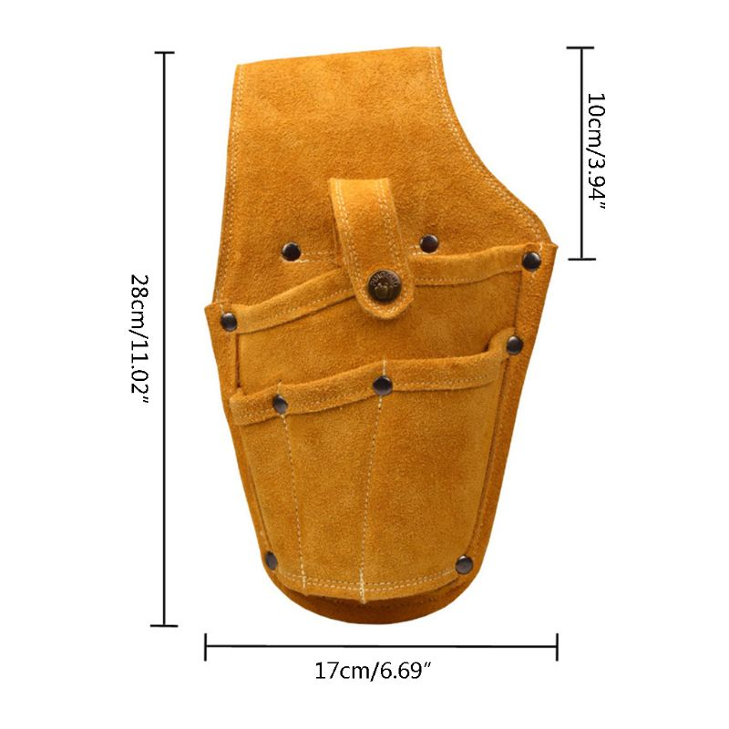 Wearable Waist Pack Electric Drill Bag Screws Nails Drill Bit  Pouch Bag 649E