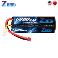 Zeee 11.1V 6000mAh 3S 80C RC Battery Charger with Deans Plug Lipo for Car Truck Truggy FPV Airplane Helicopter