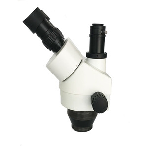 Image 3 - 3.5x 90x simull focal industrial trinocular microscópio estéreo de solda braço duplo microscopio luzes led lâmpada jóias pcb reparação