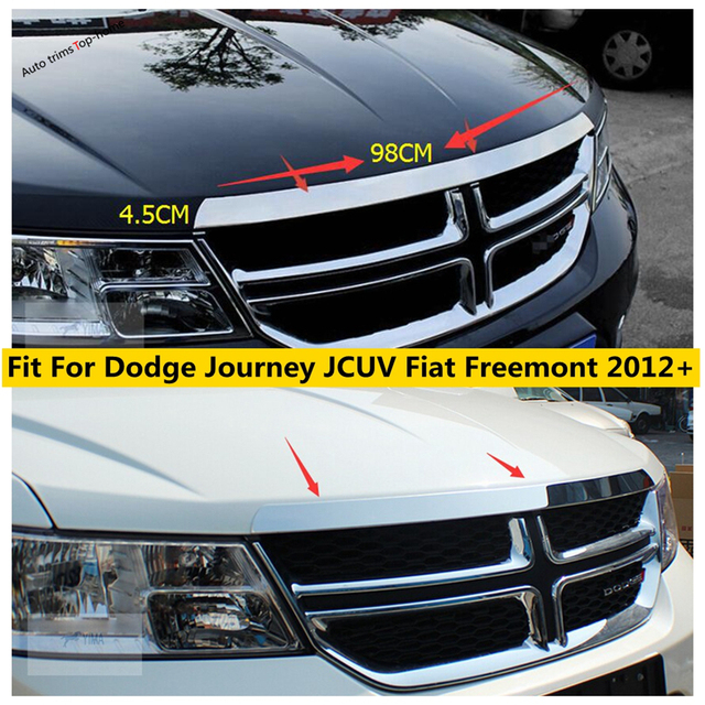 Yimaautotrims Exterior Stainless Steel For Dodge Journey JCUV Fiat Freemont 2012 - 2019 Front Hood Grille Gill Engine Cover Trim 1
