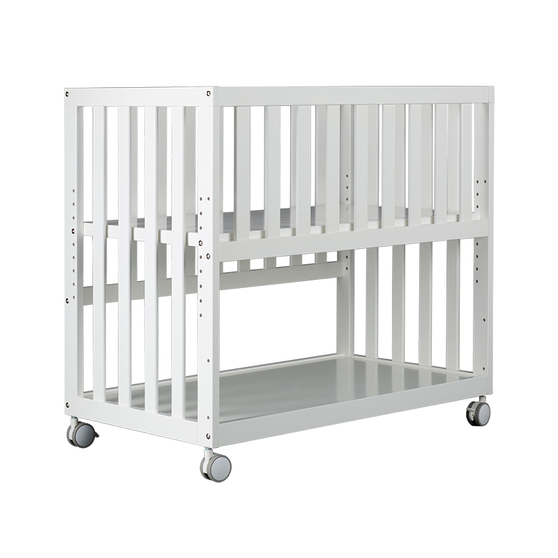 879 Baby Bed Solid Wood Babies' Bed BB Bed Multi-functional Bed Newborns Bedside Bed Variable Desk