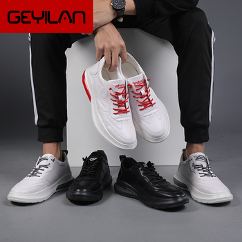 Leather Shoes Men White Shoes Black Designer Shoes Men Fashion Buty Meskie Zapatillas Hombre Casual Heren Schoenen Buty Meskie фото