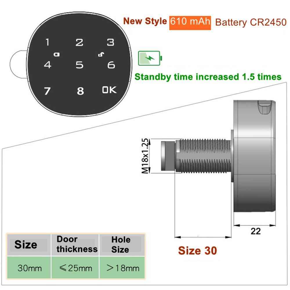 Wysokiej jakości klawisz dotykowy elektroniczne zamknięcie drzwi szafy Keyless hasło meble biurowe zamek do szuflady dla Home Office GYM Security