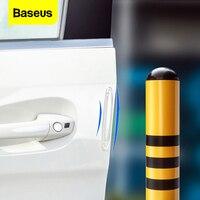 Baseus 4 pièces voiture porte protecteur garde Airbag bande tampon Protection anti-rayures voiture caoutchouc pare-chocs autocollants Auto porte bord Protection