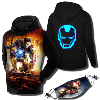 Superhero The Avengers 3 Spiderman Homecoming Iron Man Hoodies Iron Spider man Venom Black Panther Pullover Sweatshirt