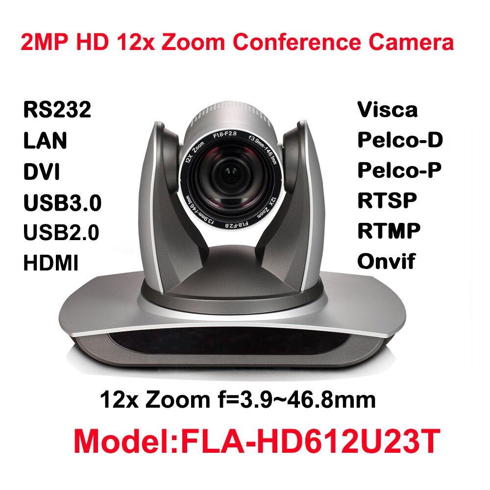 Güvenlik ve Koruma'ten Gözetim Kameraları'de 12X Optik Zoom  USB2.0  USB3.0  Hdmi  IP Akış 1920X1080 P PTZ Kamera  72.5 Derece Fov (Gri) title=