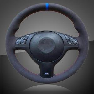 Image 1 - Bmw e46 e39 330i 540i 525i 530i 330ci m3 2001 2003 용 스티어링 휠 커버의 자동 브레이드 인테리어 카 스티어링 휠 커버