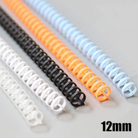 12 Mm Notebook Plastic Binding Spiraal Strip 30 Gat Cirkel Ring Boek Bindmiddel A4 Losbladige Papier Boeken Coil school Office Supply