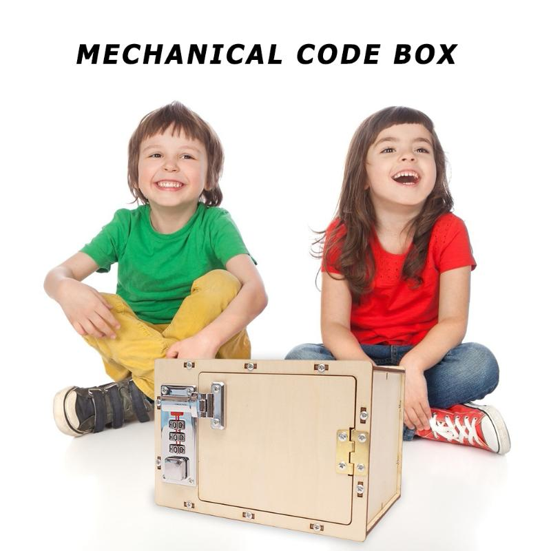 DIY Mechanical Password Box Develop Intelligence Endless Happiness Building Model Toys Science Projects Experiment Kits