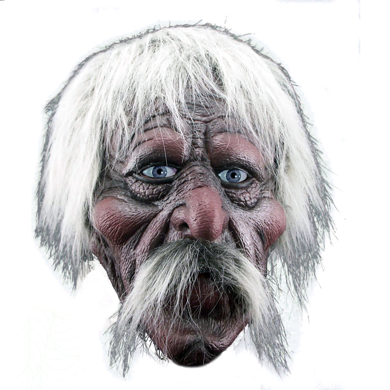 2020 Hot Sale Realistic Old Man Mask Male Disguise Halloween Fancy Dress Head Rubber Adult Party Masks Masquerade Cosplay Props