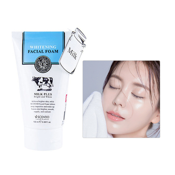 Milk Face Wash Facial Cleanser Nourishing Cleanser Foam Moisturizing Whitening Anti-Spots Marks Deep Clean Cosmetics facial foam cleanser