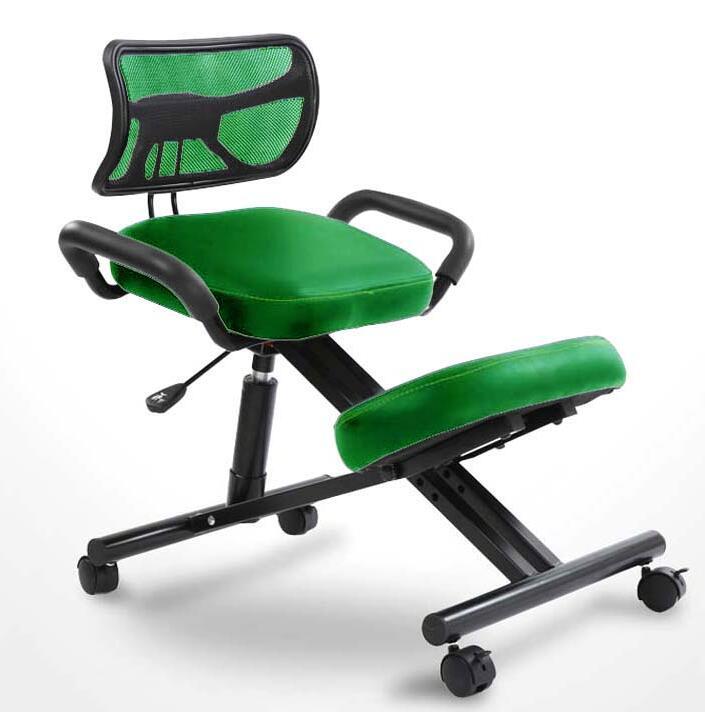 Ergonomsko oblikovan kolenski stol s hrbtnim in ročajem Pisarniški - Pohištvo - Fotografija 2
