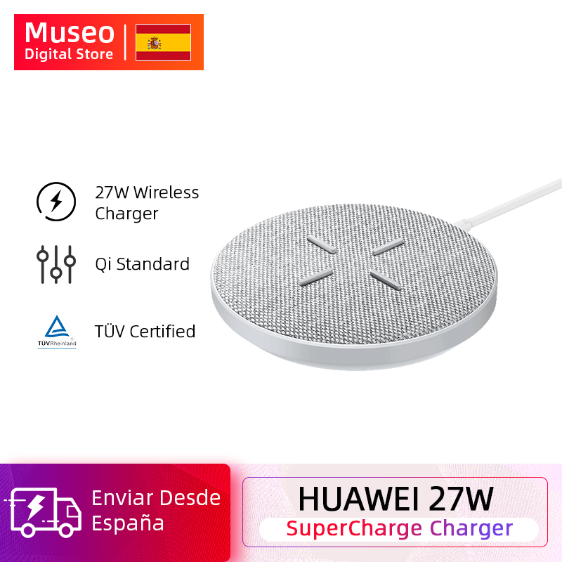 Original HUAWEI SuperCharge Wireless Charger Max 27W Support For Android IOS Wireless QI Support
