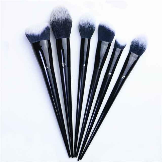 Makeup Brushes Big Powder Bronzer High gloss Foundation Blusher Concealer Shadow Highlighter Sculpting Light Dark Smoky Liner 3