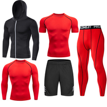 Men Tracksuit Sports Suit Gym Compression Clothing Fitness Running Set Jogging Sportwear Long Sleeves Shirts Sport Suit Rashgard