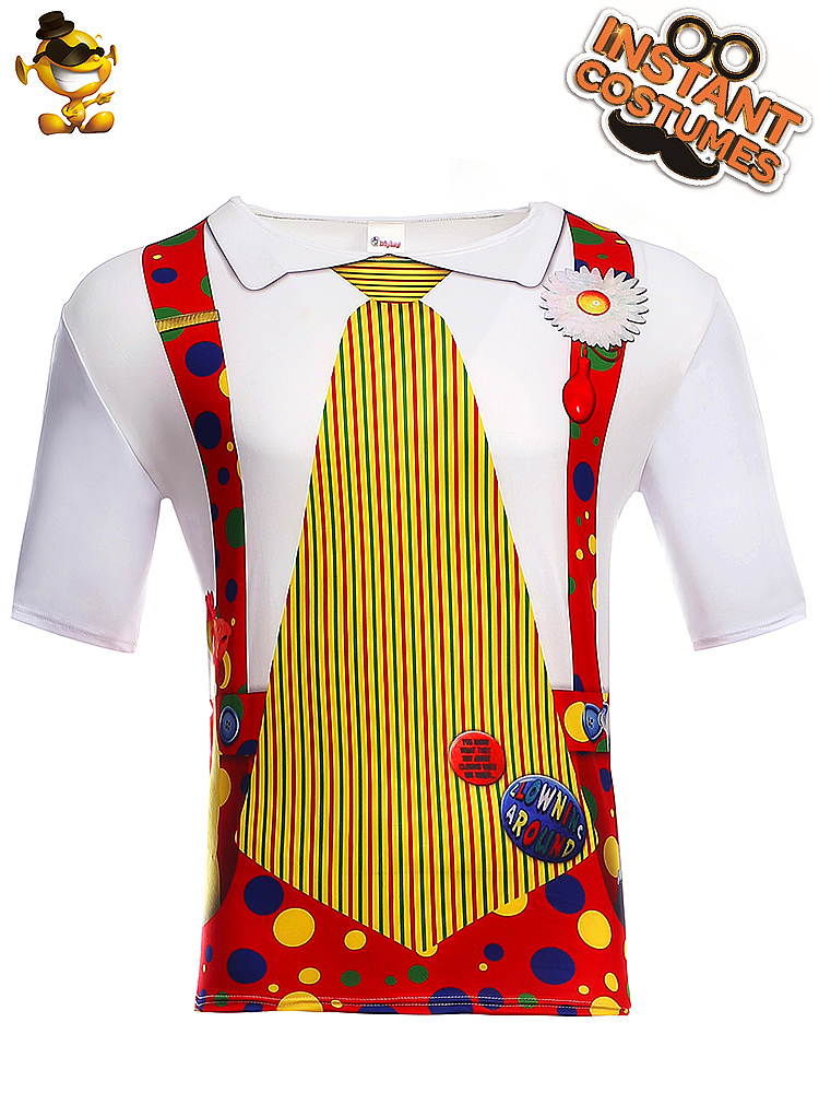 WHITE TIE funny novelty goth clown formal wear T shirt All Sizes