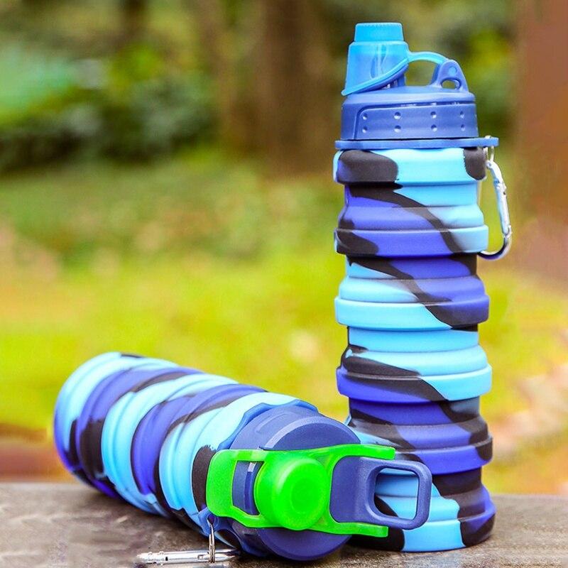 vazamento dobrar silicone bonito garrafas de água