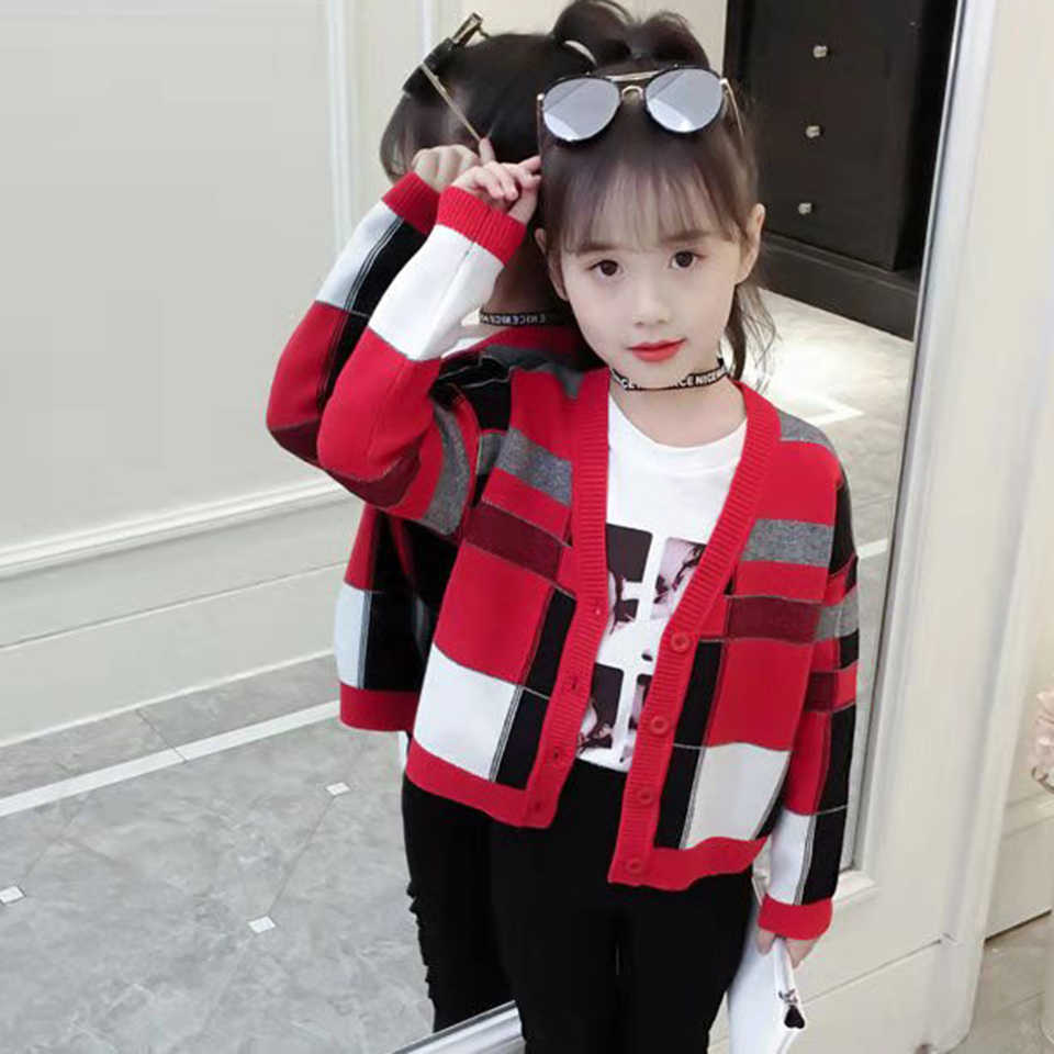 Hot Sale Autumn Winter Warm Girls Sweaters Kids Cardigan Party Sweater Cute 2019 Girls Outerwear For 3 4 5 6 7 8 10 12 Years