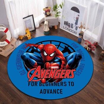 Disney Kids Playmat 100x100cm Mats Anti Slip Mat Cartoon Spiderman Printed Pattern  Rug for Bathroom Door Living Room Gift symmetrical pattern door mat