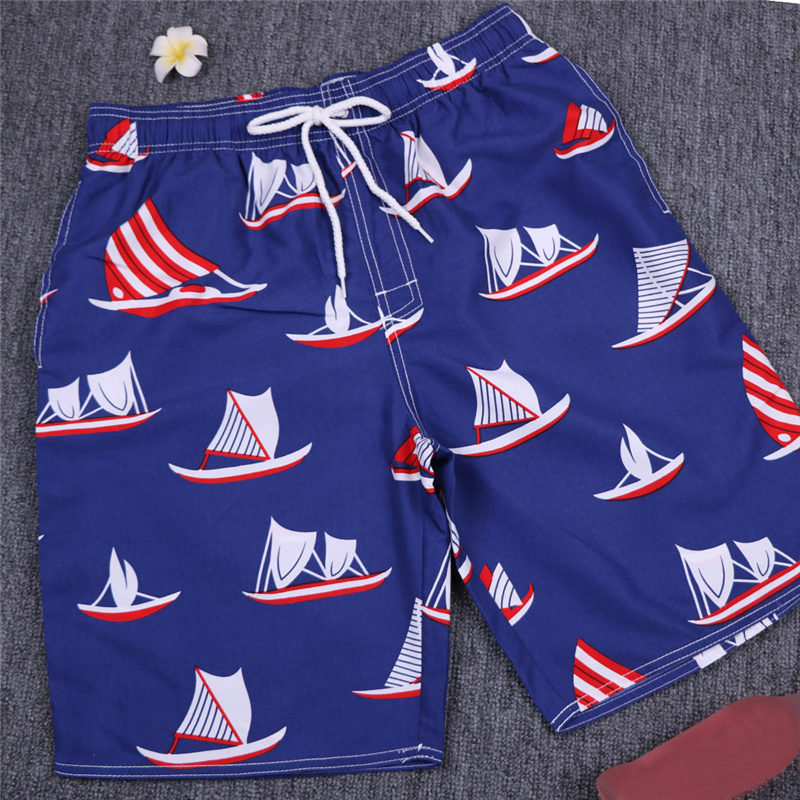 Shorts Men's 2020 New Quick-drying  Hawaiian Boat Print Beach Board Shorts Surfing Fitness Shorts Funny Board Shorts For Men
