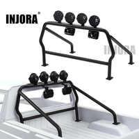 INJORA Metallo Roll-bar Secchio con 6 Luci A LED per 1/10 RC Crawler Axial SCX10 D90 Tamiya CC01