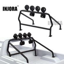 INJORA โลหะ Roll Cage ถัง 6 ไฟ LED สำหรับ 1/10 RC Crawler Axial SCX10 D90 Tamiya CC01