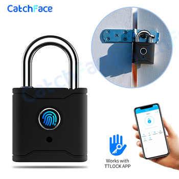 Smart Lock Keyless Fingerprint Lock USB Rechargeable Door Lock Smart Padlock Bluetooth Quick Unlock Phone unlock TTlock App - DISCOUNT ITEM  35 OFF All Category