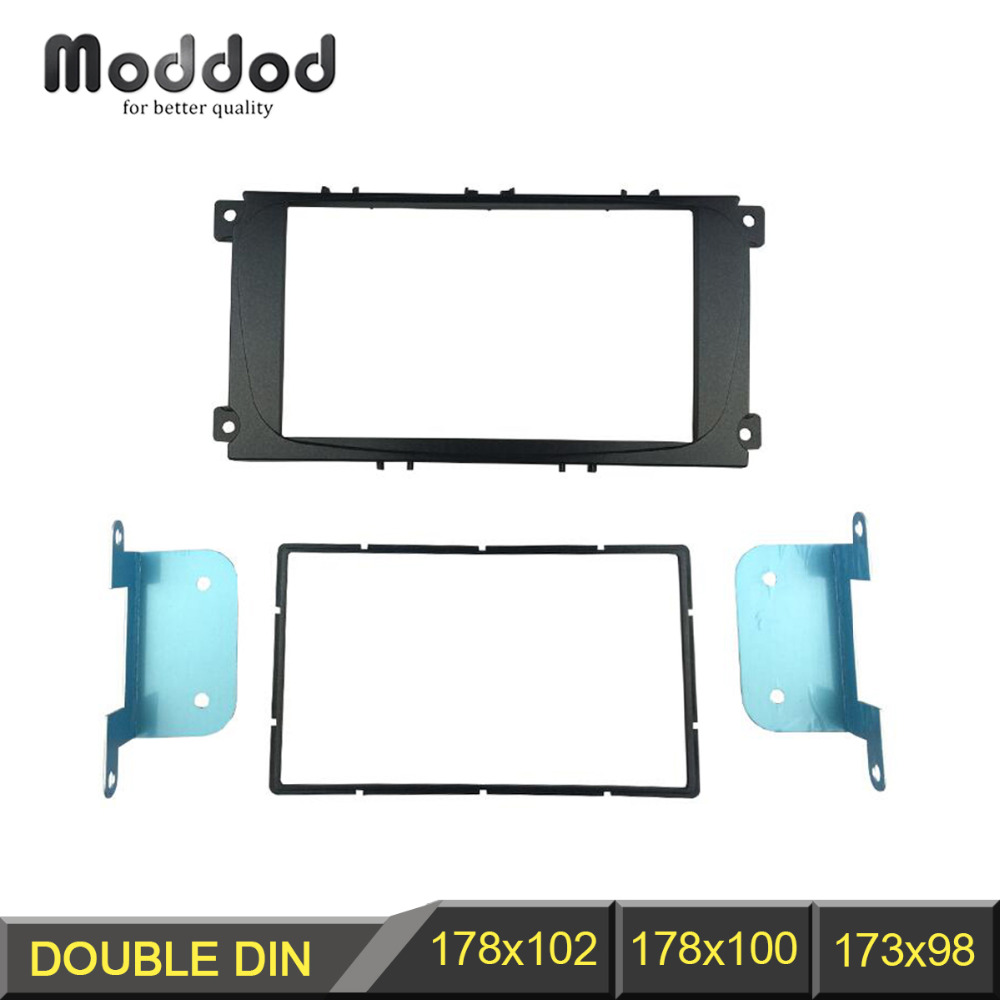 2 Din Car Radio Fascia til Ford Focus II Mondeo Kuga S-Max C-Max Galaxy II Stereo Dash Kit Fit Installation Trim Facia Frame