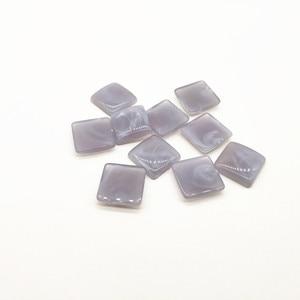 Image 3 - Neue ankunft! 17mm 300 stücke acryl Marmor wirkung flache rückseite platz form für ohrringe zubehör, Ohrring teile, schmuck machen DIY