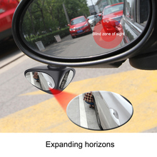 Hot 2pcs 360s Rotation Car Blind Spot Mirror Safe Parking Multi-purpose Auxiliary Rearview J99