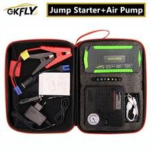 GKFLY atlama marş acil hava kompresör pompası başlangıç cihaz kabloları güçlendirici taşınabilir güç bankası başlangıç benzinli dizel araba