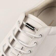 1 Pair Round Shoelaces Elastic Shoe laces No Tie Leisure Sneakers Quick Lazy Unisex Metal Capsule Children Adult Shoelace
