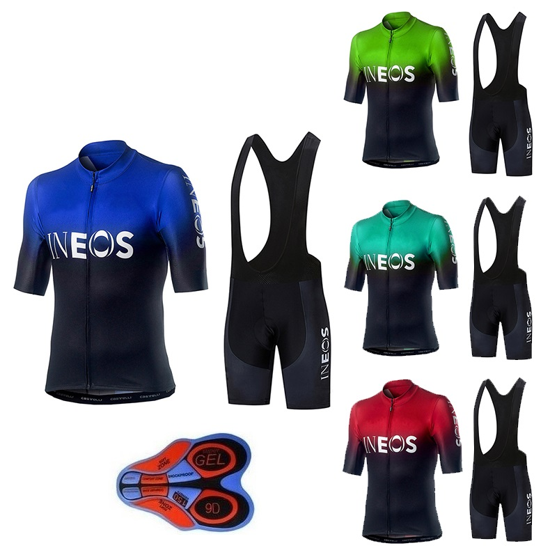 New 2019 INEOS Cycling Jersey Set Team Racing Sport Bicycle Mens Clothing Short Bike Maillot Culotte cycling sets
