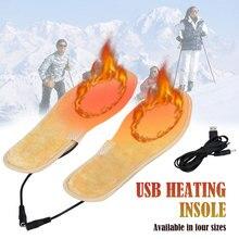 Стельки унисекс с подогревом USB, стельки с подогревом для ног, электрические стельки с подогревом для ног, зимние уличные спортивные стельки с подогревом, сохраняющие тепло