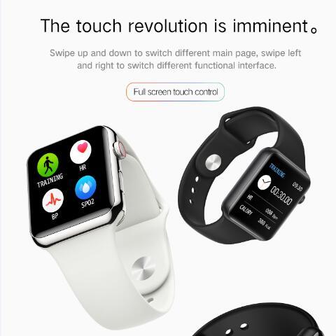 Vwar série 5 montre intelligente 42mm étui pour Apple IOS Xiaomi téléphone moniteur de fréquence cardiaque 50 + visages Smartwatch VS iwo 13 Max T500 IWO12 - 4