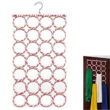 28 отверстий, вешалка для шарфов, многоцветные шарфы, дисплей, складная вешалка для галстука, ремень, крючок, органайзер, Круглый держатель для хранения, вешалка для одежды