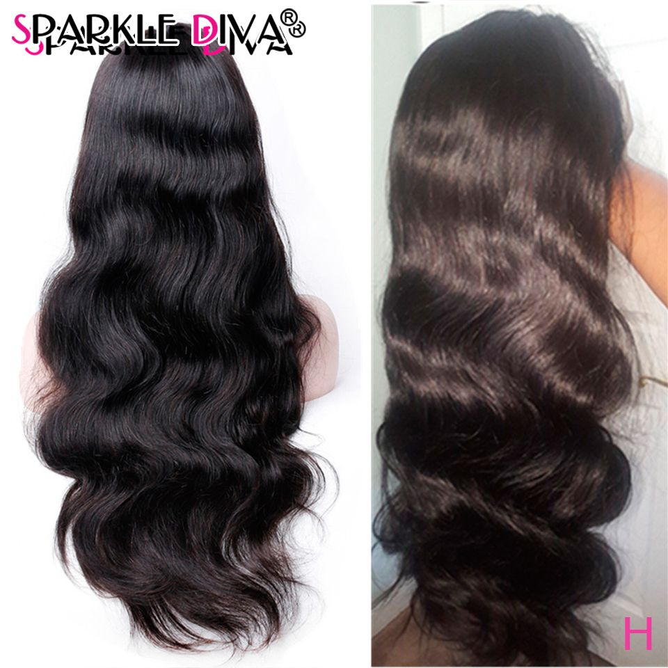 Brazilian Body Wave 360 Lace Frontal Wigs Pre Plucked With Baby Hair Remy Human Hair Wigs 150% Density Lace Wig For Black Women